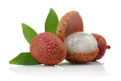 Lychee fruits Stock Image