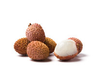 Lychee fruits isolated Royalty Free Stock Photos