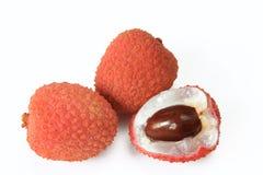 Lychee fruits (Litchi chinensis) Стоковое Изображение