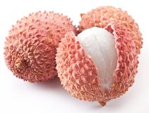 Lychee fruits. Royalty Free Stock Photos