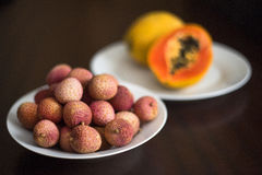Lychee frukt Arkivfoto