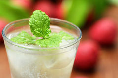 Lychee juice with fruits Royalty Free Stock Images