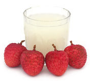 Lychee juice with fruits Royalty Free Stock Photo