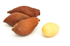 Lychee (Litchi chinensis) Against On White Background Royalty Free Stock Images