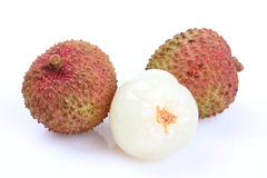 The lychee (Litchi chinensis) fruit Royalty Free Stock Photo