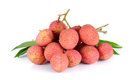 Lychee or Litchi isolated on the white background Royalty Free Stock Photo