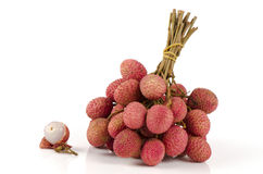 Lychee, Litchi (Litchi chinensis Sonn.) Royalty Free Stock Images