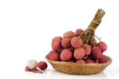 Lychee, Litchi (Litchi chinensis Sonn.). Royalty Free Stock Photography