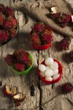 Lychee love royalty free stock image