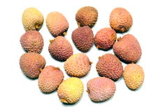 Lychee or lychees,. Shelled exotic fruits (litchi, Lychi Royalty Free Stock Photos
