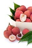 Lychee o frutta del litchi Fotografia Stock