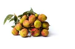 Lychee owocowy bukiet na białym tle fotografia royalty free