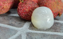 Lychee peel out Stock Images