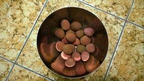 Lychees в шаре Стоковое Изображение RF