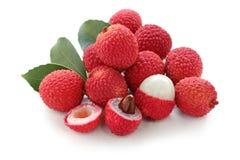 lychees предпосылки свежие белые Стоковое Изображение RF