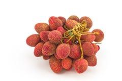 lychees предпосылки свежие белые Стоковое Фото