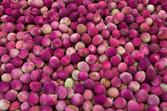 Lychees. On the Carmel market in Tel Aviv Royalty Free Stock Image