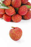 Lychees bunch Royalty Free Stock Photo