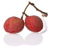 Lychees de la Chine Photo stock