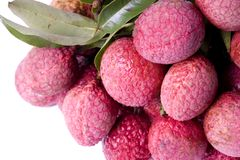 Lychees de la Chine Photos stock