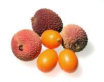 Lychees et kumquats Photographie stock libre de droits