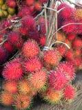 Lychees für Verkauf am Markt Lizenzfreies Stockbild