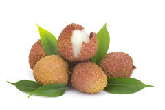 Lychees fraîches Images stock