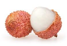 Lychees isolados no branco Imagens de Stock