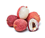 Lychees and its section Royalty Free Stock Photography