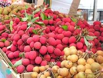 lychees litchis litchess Стоковое Изображение RF