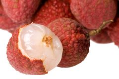Lychees Macro Royalty Free Stock Images