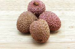Lychees red color Stock Photo