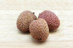 Lychees red color Royalty Free Stock Photos