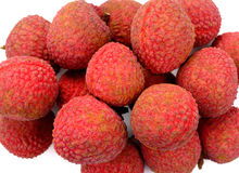 Lychees  on white background Stock Photo