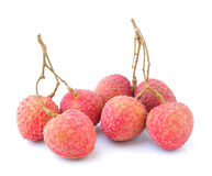 Lychees  on white background Stock Photos