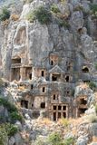 Ancient Licyan Tombs in Myra Royalty Free Stock Images