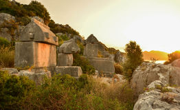 Lycia tombs Royalty Free Stock Photography