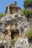 Lycian岩石裁减坟茔 免版税库存照片