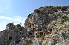 Lycian ancient settlement in Turkey Royalty Free Stock Photos