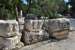 Lycian ancient settlement in Turkey Royalty Free Stock Photo