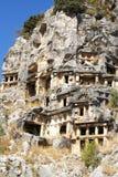 Lycian Gräber Stockbilder