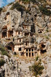 Lycian Gräber in Myra Stockfotos