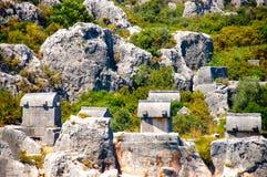 Lycian grobowowie w Simena obrazy royalty free