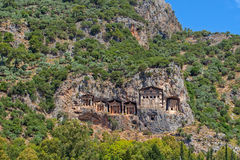 Lycian kings' tombs. Turkey royalty free stock photography