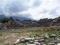 Lycian plats av Tlos arkivfoton