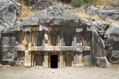 Lycian Roche-a coupé le tombeau dans Myra Image libre de droits