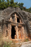 Lycian Rock-Cut Tomb Above Kaş, Turkey Royalty Free Stock Photos