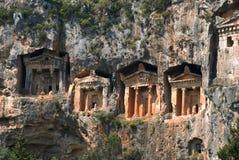 Lycian rock-cut tombs Stock Images