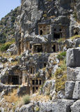 Lycian Rock-cut tombs in Myra Royalty Free Stock Image