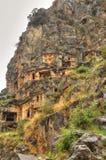 Lycian Rock Tomb, HDR photography. Lycian Rock Tomb in ancient Myra Turkey Royalty Free Stock Photo